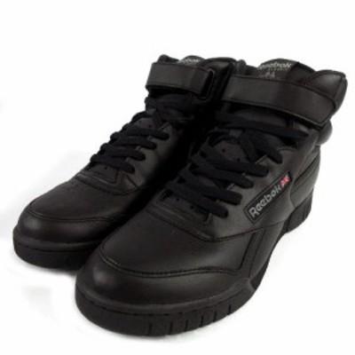 【中古】未使用品 リーボック Reebok エックスオーフィット ハイ EX-O-FIT HI スニーカー ハイカット 靴 ロゴ 黒 27