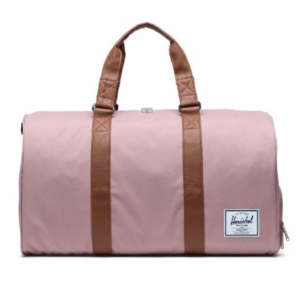 Herschel Supply Novel 乾燥玫瑰 粉色 皮革提把 帆布 大容量 手提 側背 登機 旅行 提袋 現貨