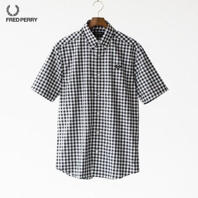 フレッドペリー 2カラー ギンガムシャツ 半袖 M8569