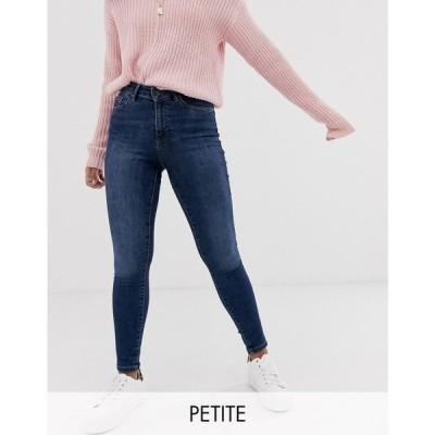 ヴェロモーダ Vero Moda Petite レディース ジーンズ・デニム スキニー ボトムス・パンツ skinny shape up jeans in dark blue ブルー