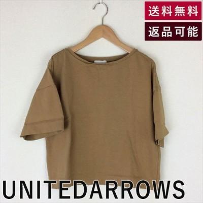 UNITEDARROWSUNITED ARROWSクロプド丈カットソーショート丈キャメルTシャツ 2017116K011-D0205