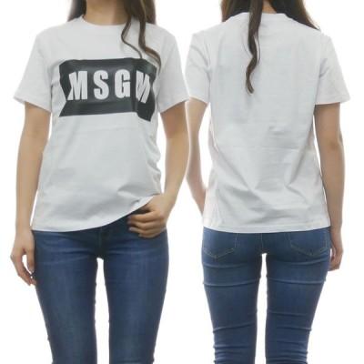 MSGM エムエスジーエム レディースクルーネックTシャツ 2641MDM95 195298 ホワイト