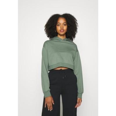 レディース ファッション Hoodie - green