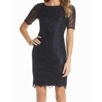 Adrianna Papell アドリアーナ パペル ファッション ドレス Adrianna Papell NEW Blue Womens Size 10P Petite Beaded Sheath Dress