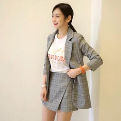 レトロ スーツ スカート 【T004-HALN0087】