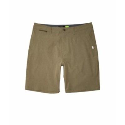 """クイックシルバー メンズ ハーフパンツ・ショーツ ボトムス Union Heather Amphibian 20"""" Shorts Kalamata"""