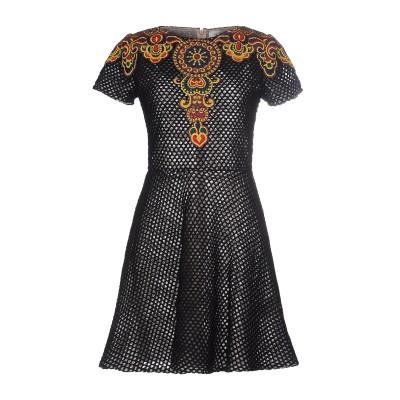 ヴァレンティノ VALENTINO ミニワンピース&ドレス ブラック M コットン 100% ミニワンピース&ドレス