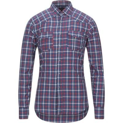 DEランプ DE LAMP メンズ シャツ トップス Checked Shirt Blue