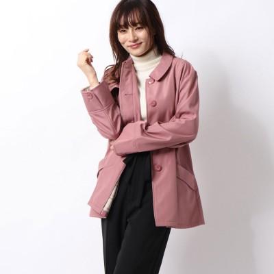セシール CECILE 裏フリースコート(軽量・手洗いOK・選べる2レングス) (ピンク)