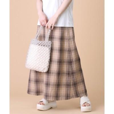スカート PENDLETON/ペンドルトン 別注 C/Liチェックスカート(リネンスカート、リネン混スカート)