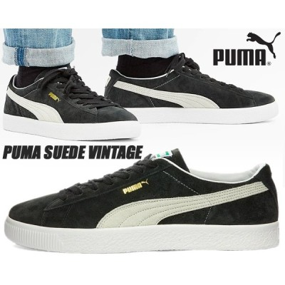 PUMA SUEDE VINTAGE PUMA BLACK-PUMA WHITE 374921-05 プーマ スウェード ビンテージ スニーカー ブラック 90681 スエード ヴィンテージ