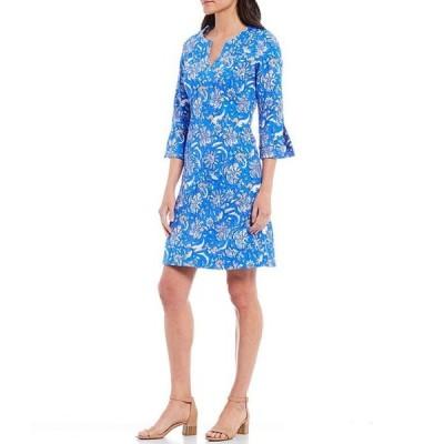 ジュードコーナリー レディース ワンピース トップス Megan 3/4 Sleeve Split Round Neck A-Line Dress