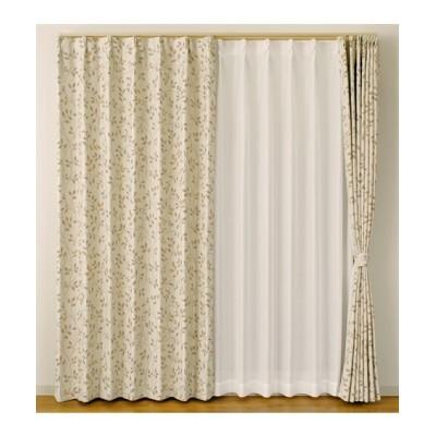 【送料無料!】ナチュラルリーフ柄。遮光カーテン ドレープカーテン(遮光あり・なし) Curtains, blackout curtains, thermal curtains, Drape(ニッセン、nissen)