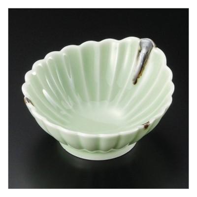 ヒワ釉錆流し菊型呑水 和食器 呑水・取鉢 業務用 約11cm 和食 和風 天つゆ 鍋料理 鉢 定番