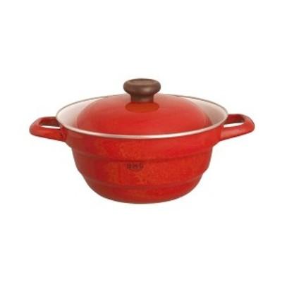 富士ホーロー 24cmオールインワン・レッド CODE:214916 冨士 琺瑯 フジ 日本製 赤