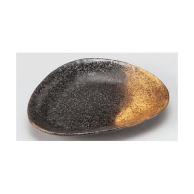 角皿 金吹黒結晶三角皿 幅190mm×奥行155mm×高さ27mm/業務用/新品