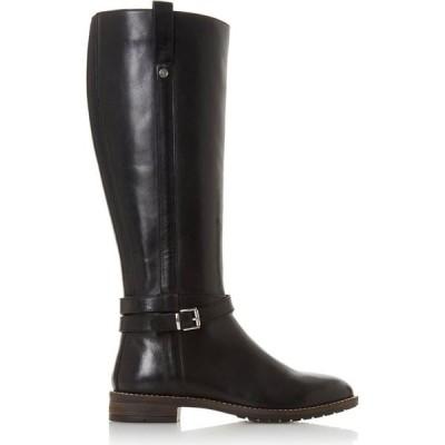 デューン Dune London レディース ブーツ シューズ・靴 Tylar Double Strap Knee High Boots Black