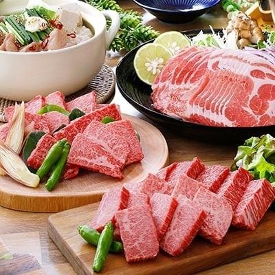 A5黒毛和牛焼肉&黒豚しゃぶしゃぶ・牛もつ鍋用(肉合計1.4Kg以上)