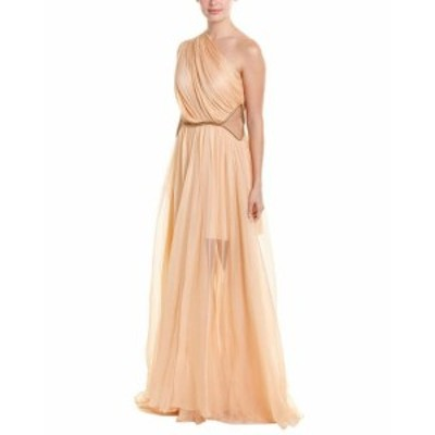 maria マリア ファッション ドレス Maria Lucia Hohan Keisha Silk One-Shoulder Gown 40 Pink