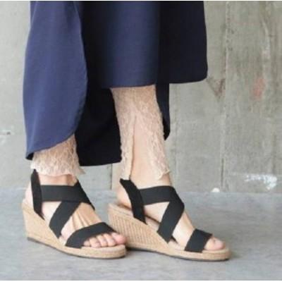 サンダル レディース 履きやすい ウェッジソール 歩きやすい 疲れない ウェッジソール サンダル ビーチ サンダル 幅広 可愛い 夏 新作
