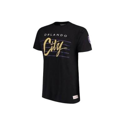 サッカー MSL ミッチェルアンドネス Mitchell & Ness Orlando City SC Black Cursive Script Traditional T-Shirt