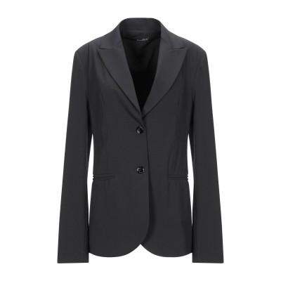 アンナリータ エンネ ANNARITA N テーラードジャケット ブラック 40 ポリエステル 95% / ポリウレタン 5% テーラードジャケット