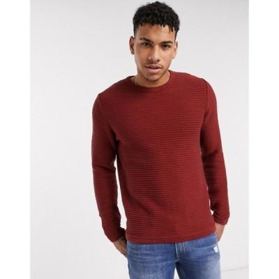 プロダクト Produkt メンズ ニット・セーター トップス organic knitted textured jumper ラセットブラウン