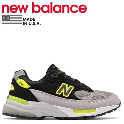 ニューバランス new balance 992 スニーカー メンズ Dワイズ MADE IN USA ブラック 黒 M992TQ