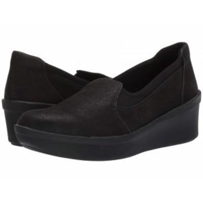 Clarks クラークス レディース 女性用 シューズ 靴 ヒール Step Rose Moon Black Textile【送料無料】