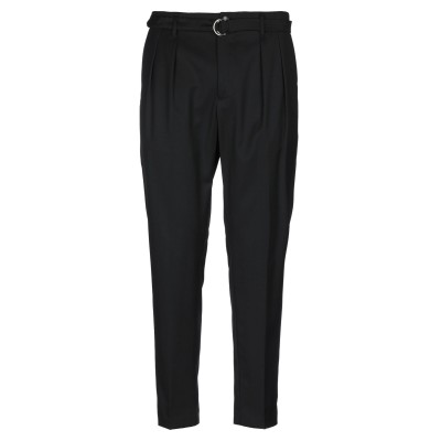 GAZZARRINI パンツ ブラック 46 ウール 50% / ポリエステル 50% パンツ