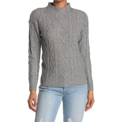 ラブバイデザイン レディース ニット&セーター アウター St. Moritz Textured Mock Neck Sweater GREY HEATHER