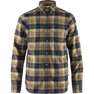 フェールラーベン メンズ シャツ トップス Fjallraven Men's Singi Heavy Flannel Shirt Dark Sand
