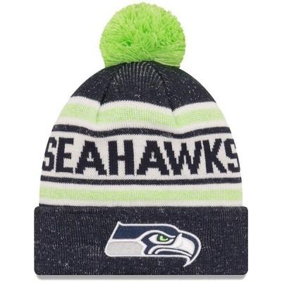 ニューエラ メンズ 帽子 アクセサリー Seattle Seahawks New Era Toasty Cover Cuffed Knit Hat with Pom