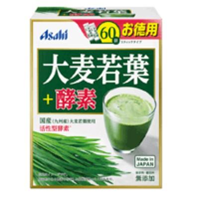 【アサヒグループ食品】大麦若葉+酵素 スティック包装 3g×60袋
