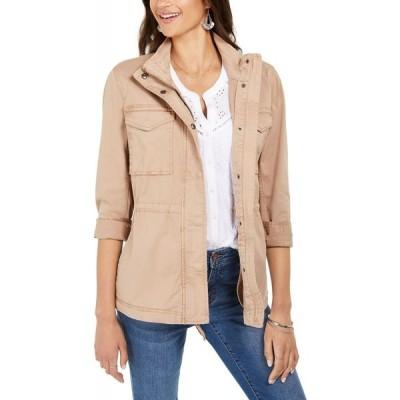 スタイル&コー Style & Co レディース ジャケット アウター Twill Jacket Doe