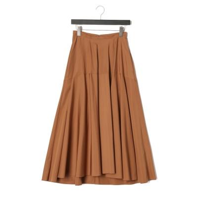 切替 スカート ブラウン 38