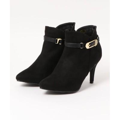 Mafmof / ElvisLuce(エルビスルーチェ) 2WayサイドVカットベルトデザイン ショートブーツ WOMEN シューズ > ブーツ