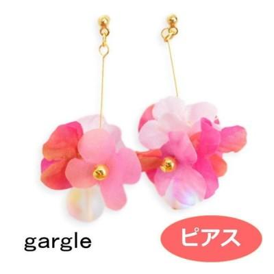 ガーグル ピアス gargle 花かざり2ピンク P18r-3430 造花 アクセサリー
