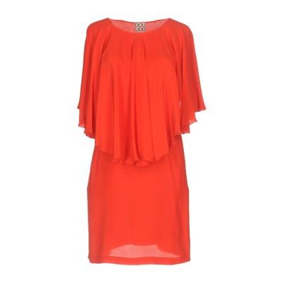 DOUUOD ミニワンピース&ドレス レッド 40 シルク 100% ミニワンピース&ドレス
