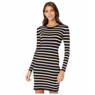ミリー ワンピース トップス レディース Multi Stripe Long Sleeve Dress Black Multi