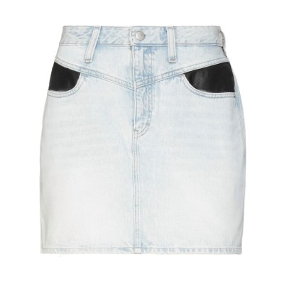 YOOX - CALVIN KLEIN JEANS デニムスカート ブルー 28 コットン 100% デニムスカート