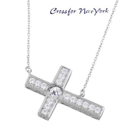クロスフォー ニューヨーク Crossfor NewYork Cross Flower シルバー ネックレス レディース キュービック