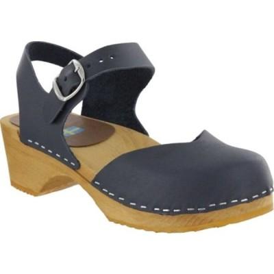 ミア サンダル シューズ レディース Sofia Closed Toe Sandal (Women's) Navy Italian Leather