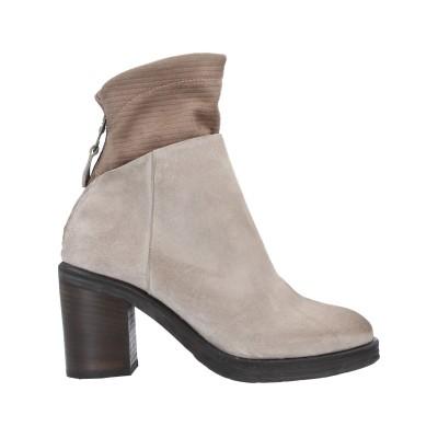 PIUMI ショートブーツ ドーブグレー 38 革 / 紡績繊維 ショートブーツ