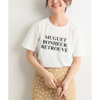 tシャツ Tシャツ fleursロゴTシャツMuguet【手荒い可能】◆