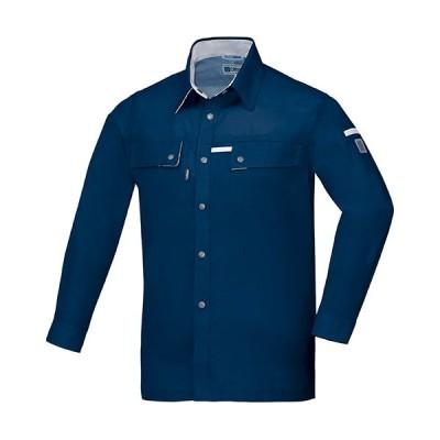 ジーベック(XEBEC) クレスタ21長袖シャツ 19/ディープネイビー 1553 作業服 作業着 ワークウエア ワークウェア メンズ レディース