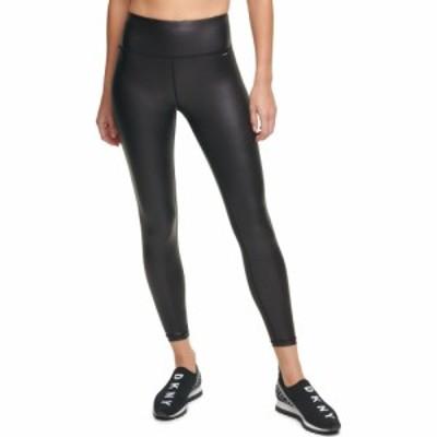 ダナ キャラン ニューヨーク DKNY SPORT レディース ボトムス・パンツ レザーレギンス Faux Leather High Waist Ankle Leggings Black