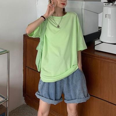 エピック デイ epic day Tシャツ トップス シンプル (グリーンA)