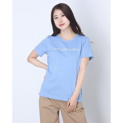 コムサイズム COMME CA ISM プリントTシャツ (サックス)