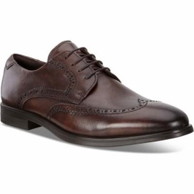 エコー ECCO メンズ 革靴・ビジネスシューズ ウイングチップ シューズ・靴 Melbourne Wingtip Cocoa Brown Leather